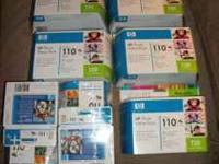 We have an overstock of HP 110 Inkjet Print Cartridges.