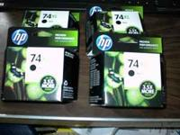 Bought direct from hp 4 new HP74XL cartridges. XL's