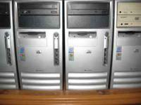 HP and Dell computer towers, w/ XP PRO SP3 ....all