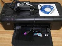 HP model D2660 color inkjet printer, purchased new in