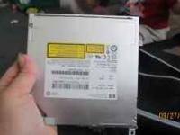 hp 2008 slide disk drive. no face.dvd player writer and