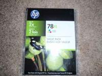 FOR SALE ! TWIN PACK OF HP 78XL TRI-COLOR VALUE PACK
