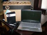 "HP G60 laptop for sale. 16.4"" screen. Has side numeric"
