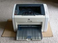 For Sale by Owner - HP Laserjet 1022 Black ink laser