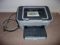 HP Laserjet printer for sale - model P1505. Excellent