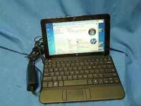 HP MINI 110 NETBOOK--Atom 1.6GHz processor 140GB HDD,