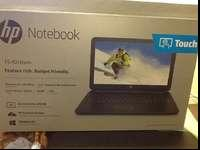Nib hp notebook with touch screen. Windows 8.1 with