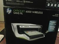 1. HP OFFICEJET 6000 WIRELESS SANS FIL PRINTER:-- $50