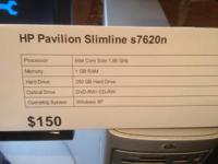 HP Pavilion Slimline featuring an Intel Core Solo
