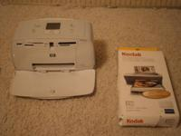 Selling my Hp PhotoSmart 335 printer, only minor use,