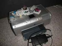 HP Photosmart 8250 Photo Printer with full set of