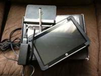 This tablet is like brand new. Includes leather case,