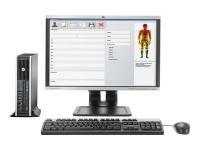 "HP Ultra-Slim PC 10"" x 10"" x 3.5""  Core i5 2.5GHz  4GB"