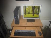 Hp desktop computer with: Intel Core 2 Duo 160gb hard