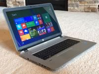 "This is a very powerful HP 17"" laptop in excellent"