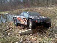 Its a Hpi Blitz $200.00 new with a 12t Traxxas motor