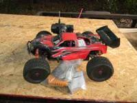 HPI Nitro Hellfire R/C Truck. Lots of upgrades. $250 or