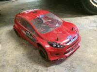 this is an hpi wr8 roller the red body has bearly been