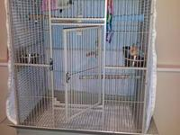 HQ Double Stacked Square Cage, Grey in color. Each cage