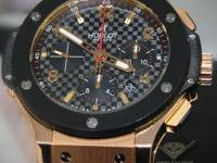 Hublot Big Bang 44mm Chronograph 18k Rose Gold Ceramic