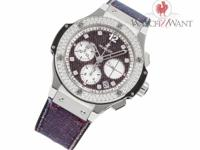 This is a Hublot Big Bang Purple Jeans Diamonds