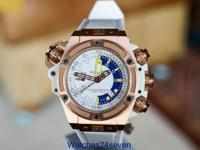 Hublot King Power Oceanographic 1000 Gold White Dial