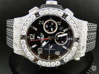 A Customized Hublot Big Bang diamond watch. The watch