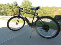 "Huffy 26"" Mountain Bike, 15 gear with water container,"