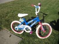 "Huffy Bike 16"" size wheels Good tread on wheels Great"