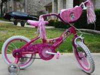 Huffy Disney Princess Bike has decorated steel frame