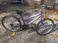 "24"" Purple Huffy Lakota girls bike. 15 speed mountain"