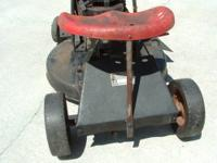 This lawnmower doesn't run. It is a good restore