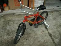 Nice little used bicycle for a small child. Has