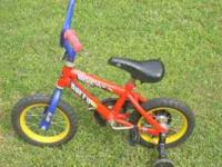 This is a very nice boys bicycle with training wheels