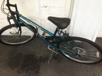Selling this like-new Huffy Rockslide 10-speed bike.