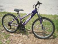 Mountain Bike made by Huffy 24 inch aluminum wheels,