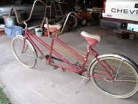 HUFFY TANDEM BIKE, DON'T KNOW WHAT YEAR, GUESSING IN