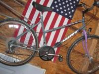 Huffy womens bike in good condition asking $30. Grey