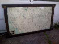 This is a wood framed under glass Chicago Burlington &