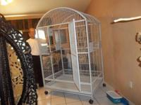 THIS CAGE IS MADE FROM HEAVY DUTY STEEL AND THE CAGE