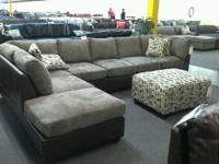 Fabric sectional you have been looking for! It's size