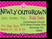 Newly Outgrown kids sale Friday, March 21  6-9pm &