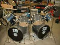 This is a 9 piece CB Drum Set with Roto Toms and