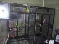 Huge!!!! Double macaw cage 8ft long 6ft tall, has 2