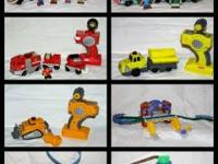 This is a huge lot of Fisher Price Geotrax. There are 7