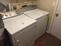 Couch ($300), ottoman ($50), GE washer and dryer set