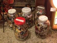 We have 5 or 6 huge gallon jars of junk jewelry (a lot