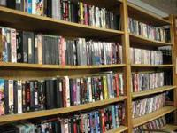 Huge liquidation Sale on DVDs, CDs, and VHS! They are