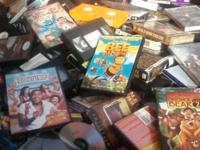 HUGE LOT (1,000'S) OF PRIMARILY VHS, SOME CD'S DVD'S