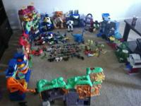 Huge lot of imaginext houses, men, accessories. Will